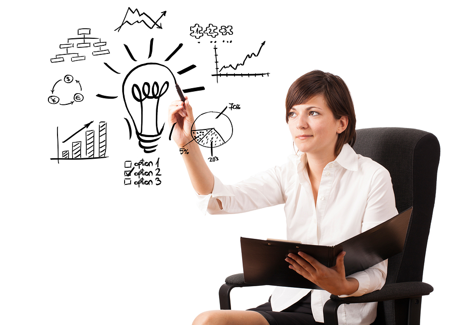 bigstock-Young-business-woman-drawing-l-39048727